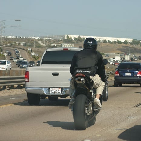Motorcycle Lane Splitting in Los Angeles