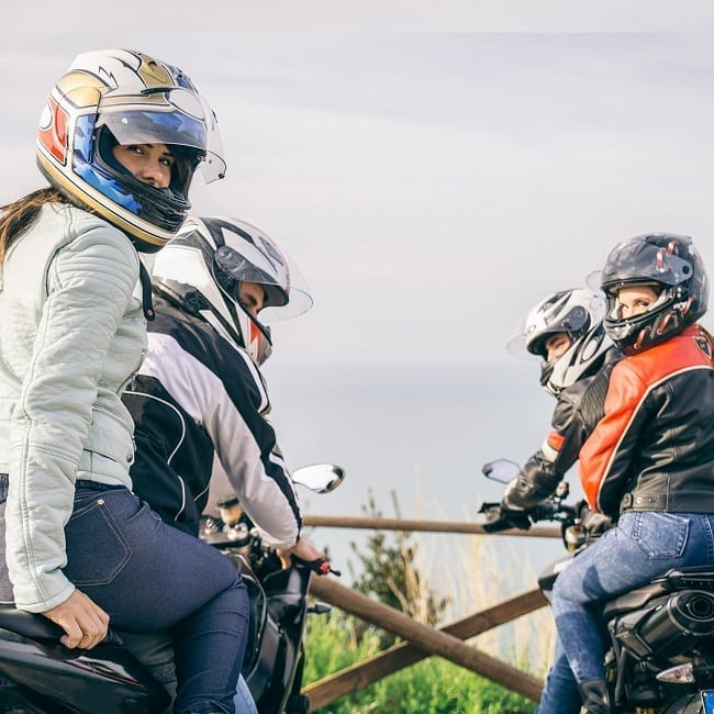 pic of passengers on motorcycles