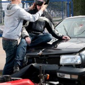 Motorcyle rider injured