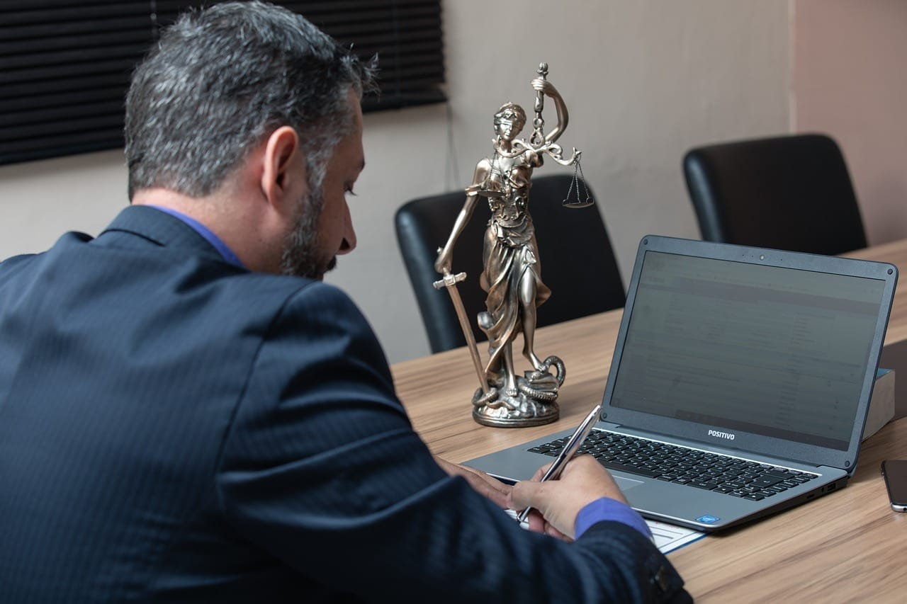 Personal injury lawyer working in a meeting room