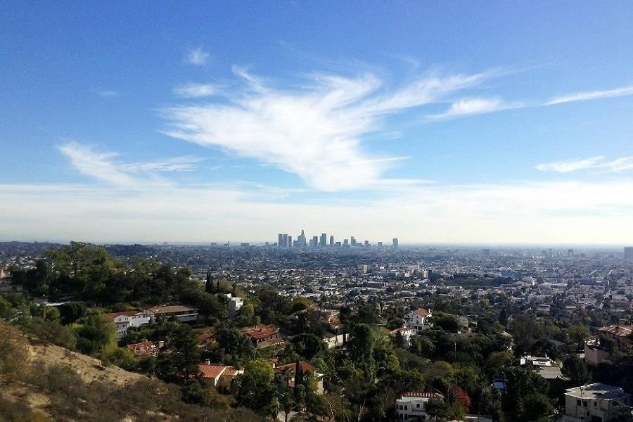Skyline view of Los Angeles
