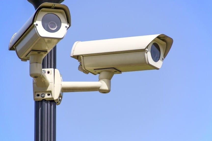 Security camera during daytime