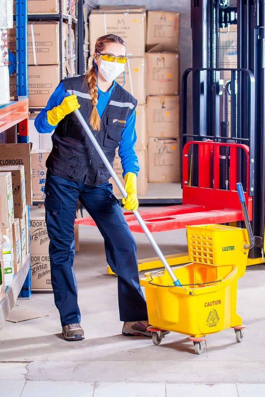 Woman working as a cleaner