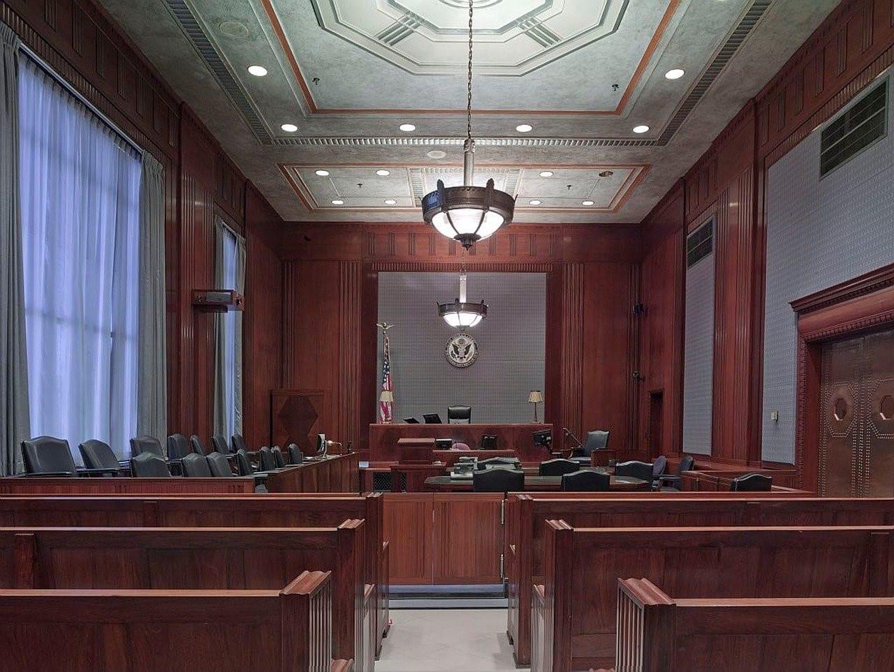 A California court room