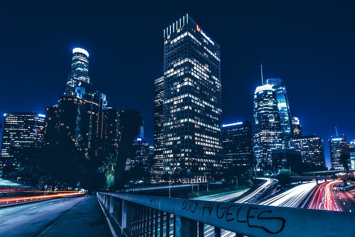 A night view of a city