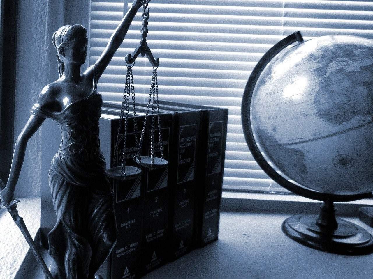 An attorney's desk